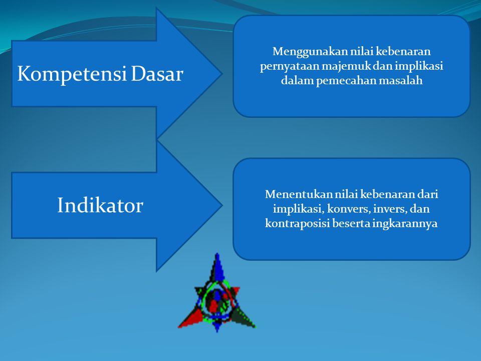 Ingatkah kalian mengenai pelajaran kemarin tentang definisi Implikasi.