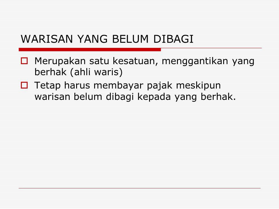 OBJEK PPH : PENGHASILAN  setiap tambahan kemampuan ekonomis yang diterima atau diperoleh Wajib Pajak,  baik yang berasal dari Indonesia maupun dari luar Indonesia,  yang dapat dipakai untuk konsumsi atau untuk menambah kekayaan Wajib Pajak yang bersangkutan,  dengan nama dan dalam bentuk apa pun