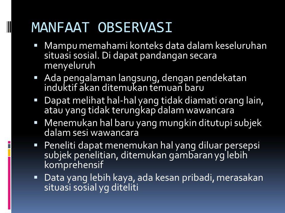 Obyek Observasi PLACEACTORACTIVITY