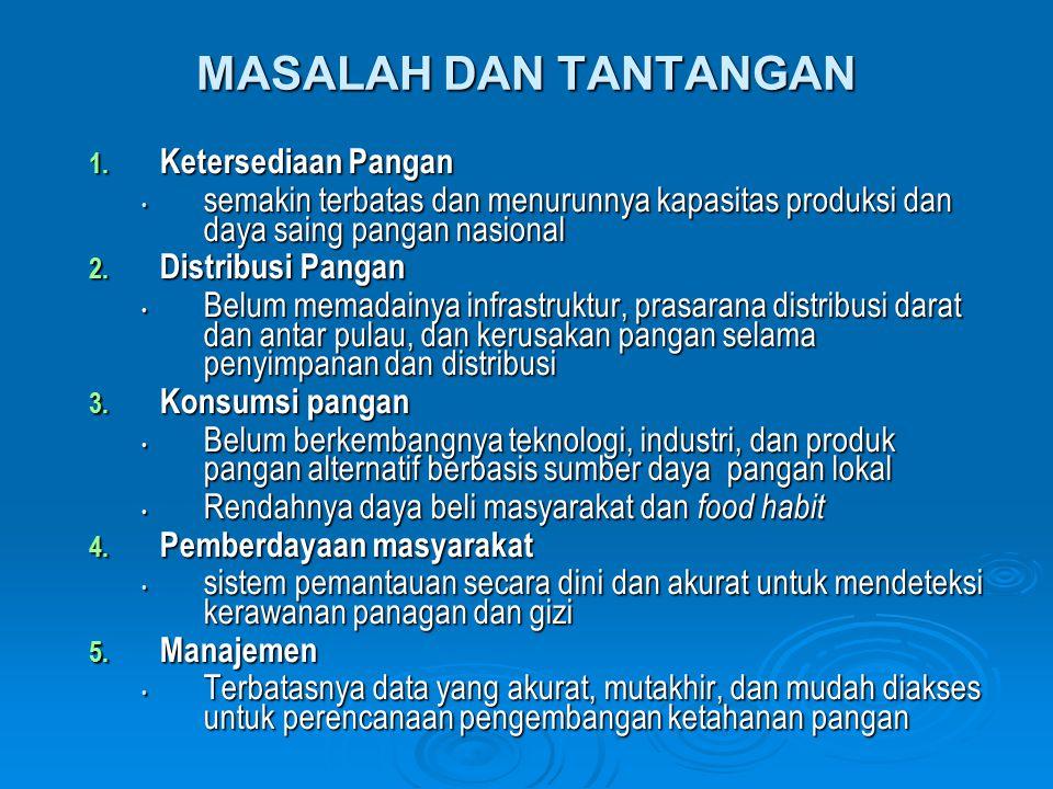 MASALAH DAN TANTANGAN 1.