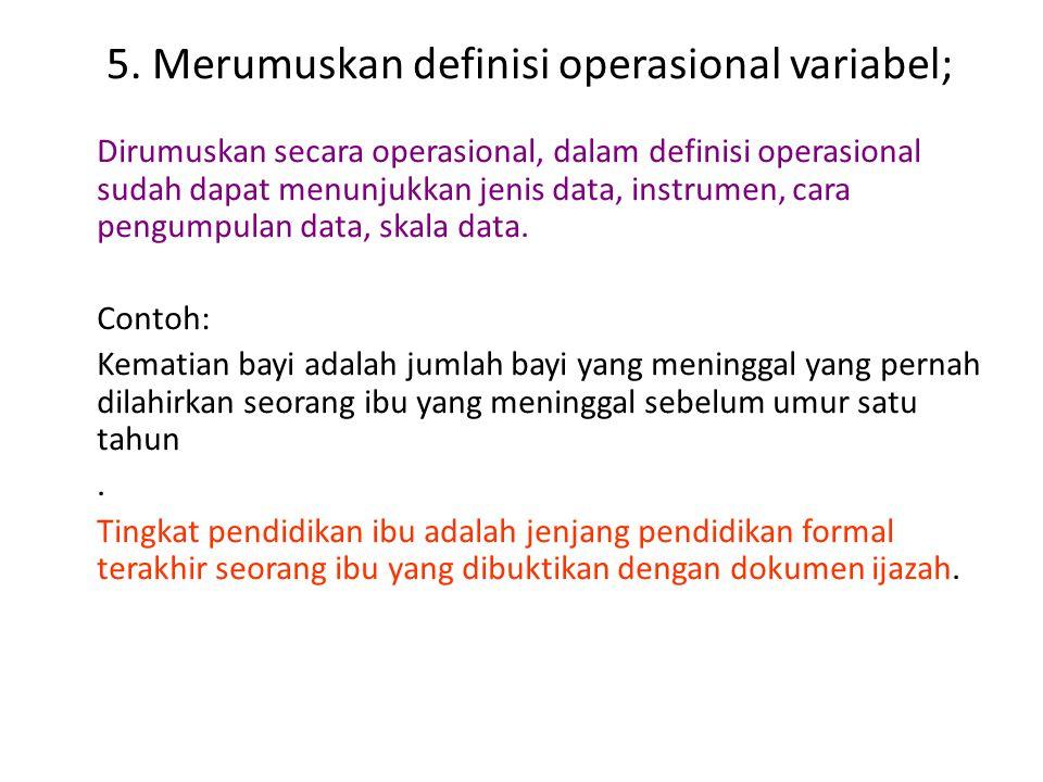Klasifikasi variabel Dependent variable Intervening variable Independent variable Moderator variable Controle variable random variable confounding var