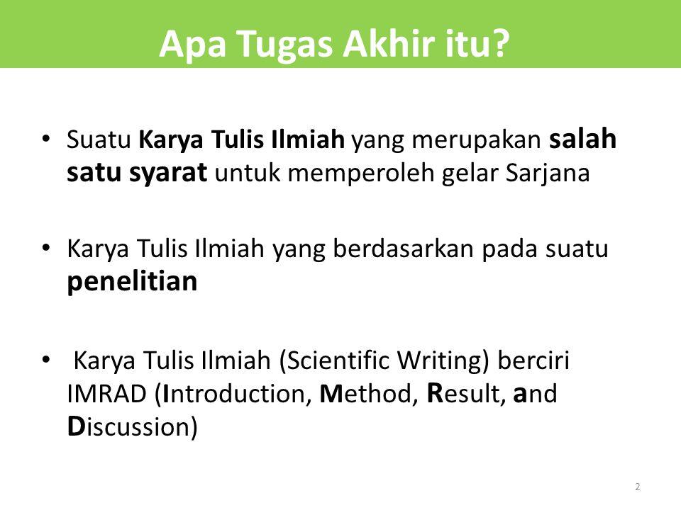 Suatu Karya Tulis Ilmiah yang merupakan salah satu syarat untuk memperoleh gelar Sarjana Karya Tulis Ilmiah yang berdasarkan pada suatu penelitian Kar