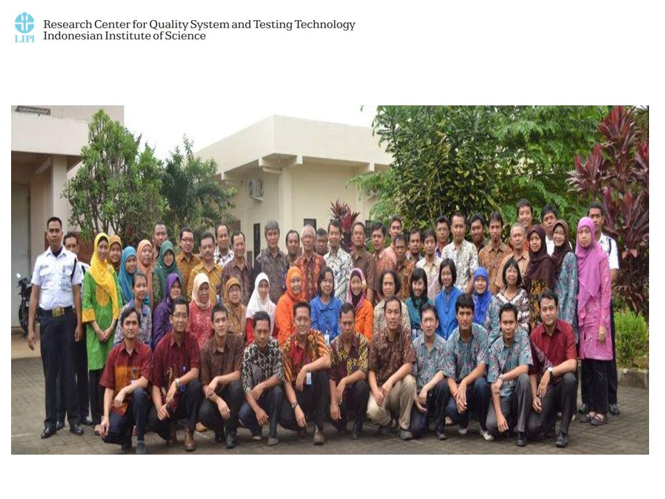 Visi P2SMTP LIPI Menjadi acuan nasional dalam bidang sistem mutu dan teknologi pengujian yang berbasis ilmu pengetahuan dan teknologi guna menunjang perkembangan kehidupan bangsa yang mampu bersaing selaras dengan perkembangan masyarakat global.