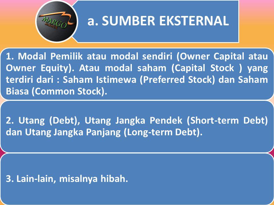 I. AKTIVITAS PEMBIAYAAN ( Financing Activity ) Kegiatan pemilik dan manajemen perusahaan untuk mencari sumber modal (sumber eksternal dan internal) un
