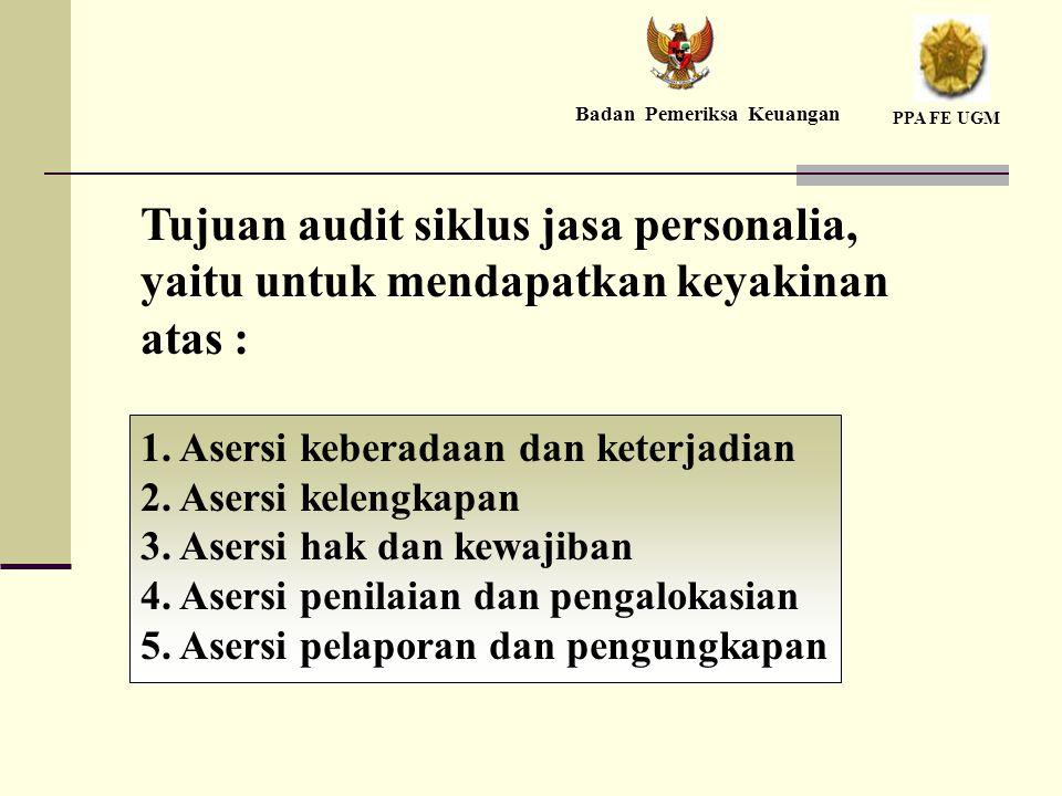 Tujuan audit siklus jasa personalia, yaitu untuk mendapatkan keyakinan atas : 1.