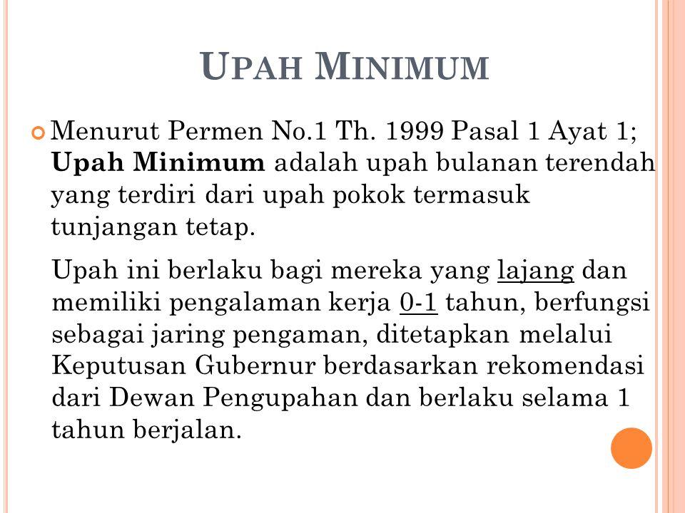 Menurut Permen No.1 Th.