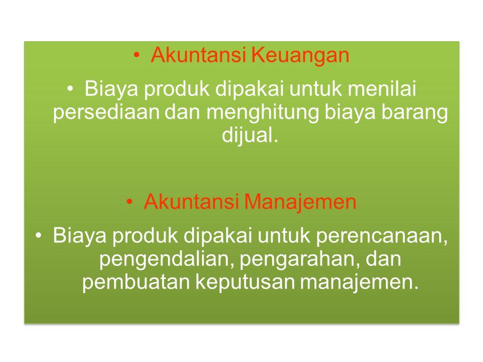 Aliran Persediaan Biaya barang yang selesai diproduksi selama satu periode ditransfer ke persediaan barang jadi.
