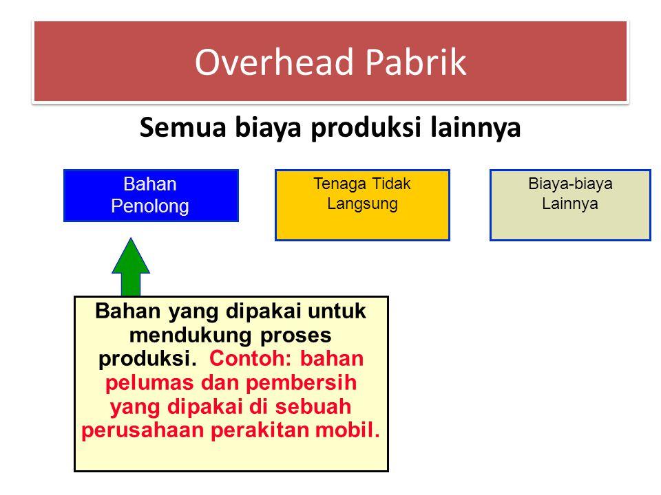 Tenaga Langsung Gaji, upah, dan tunjangan untuk karyawan yang terlibat langsung dengan pembuatan produk.