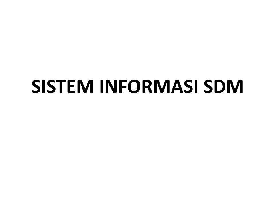 SISTEM INFORMASI SDM