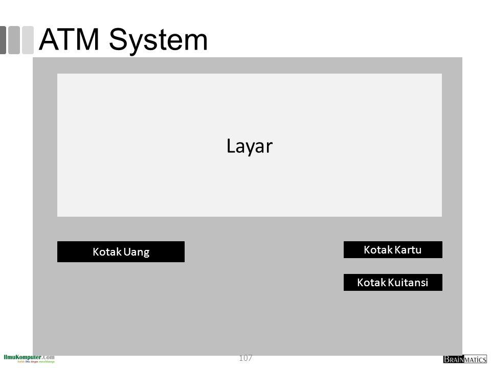 ATM System Layar Kotak Uang Kotak Kartu Kotak Kuitansi 107