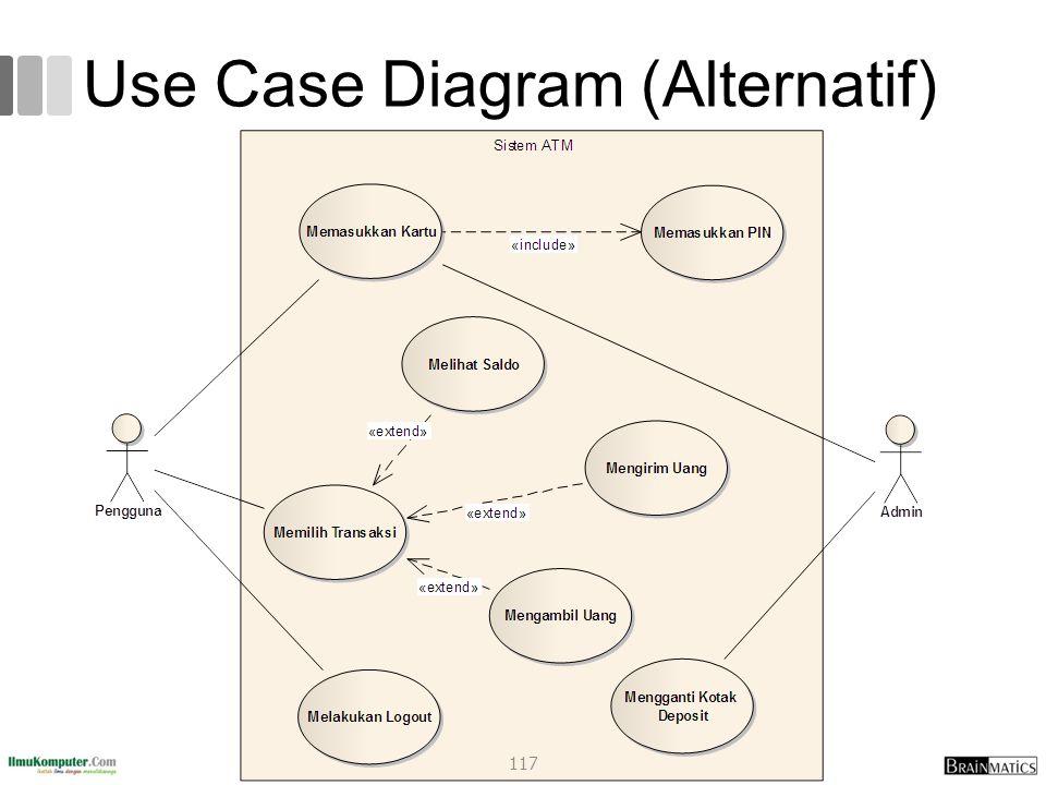 Use Case Diagram (Alternatif) 117