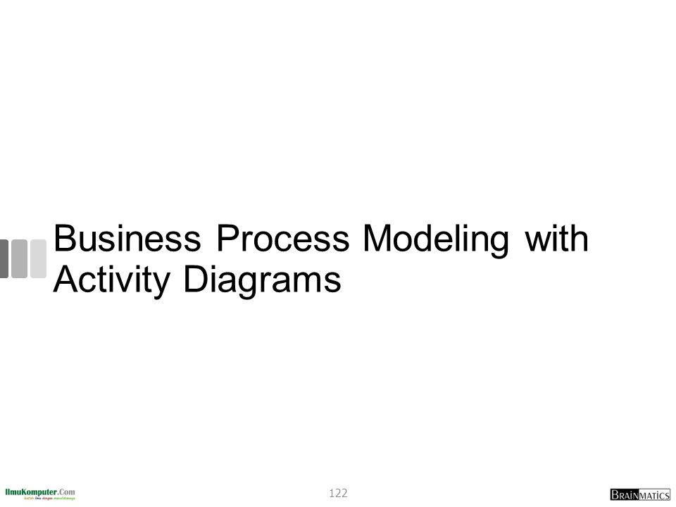 Business Process Modeling with Activity Diagrams 122