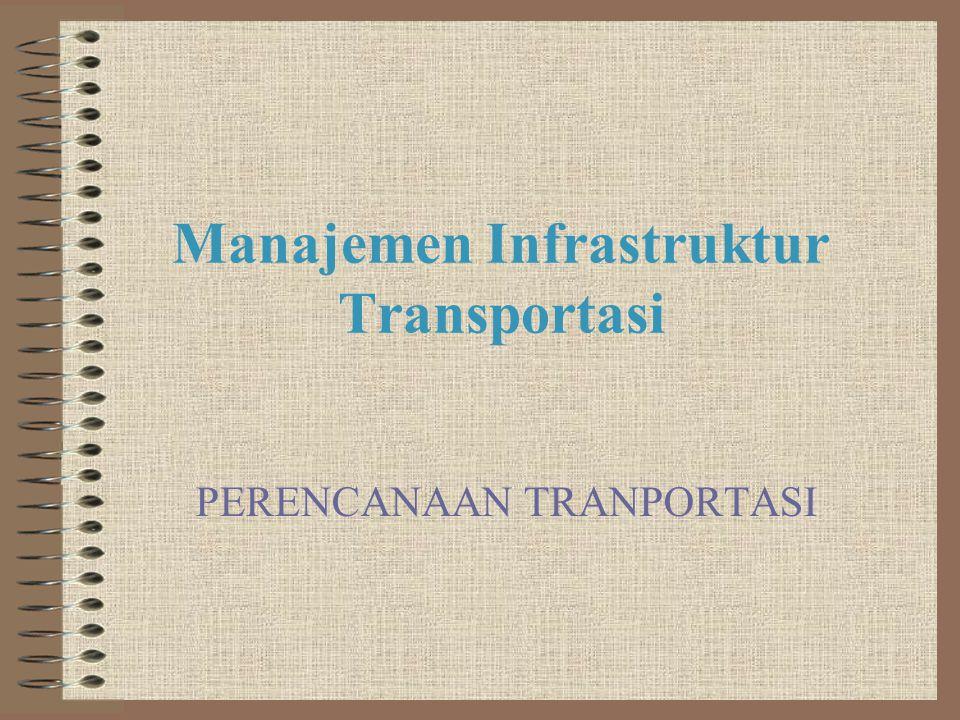 Manajemen Infrastruktur Transportasi PERENCANAAN TRANPORTASI