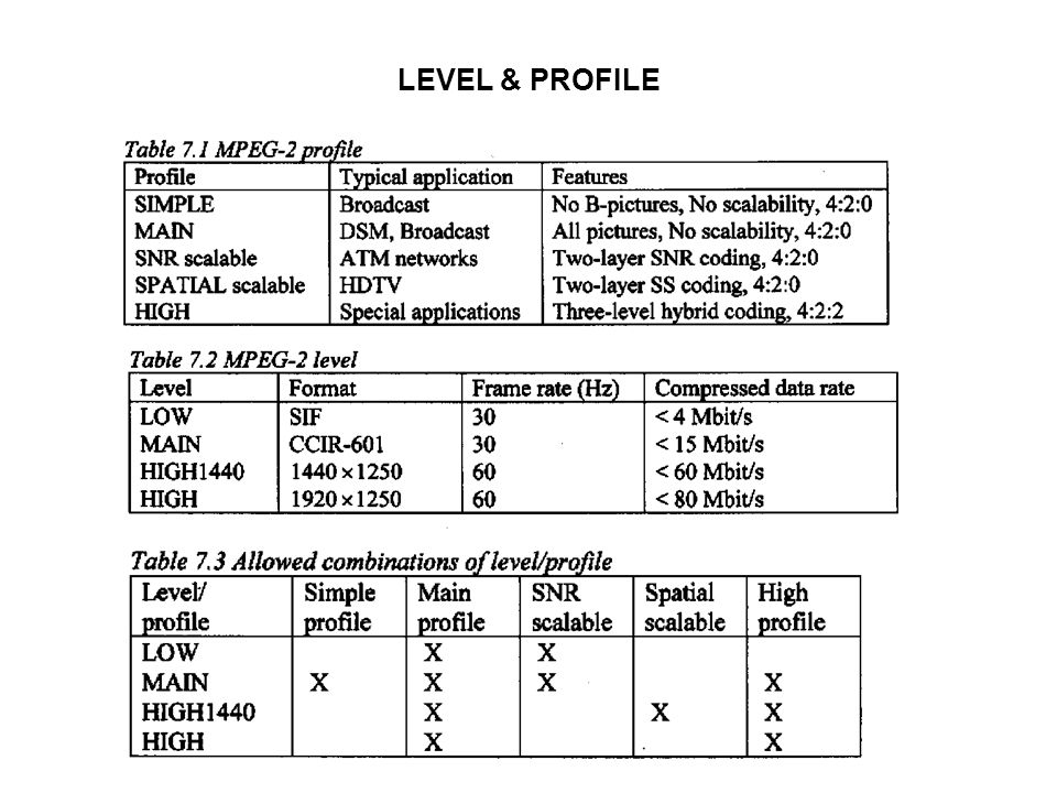 LEVEL & PROFILE