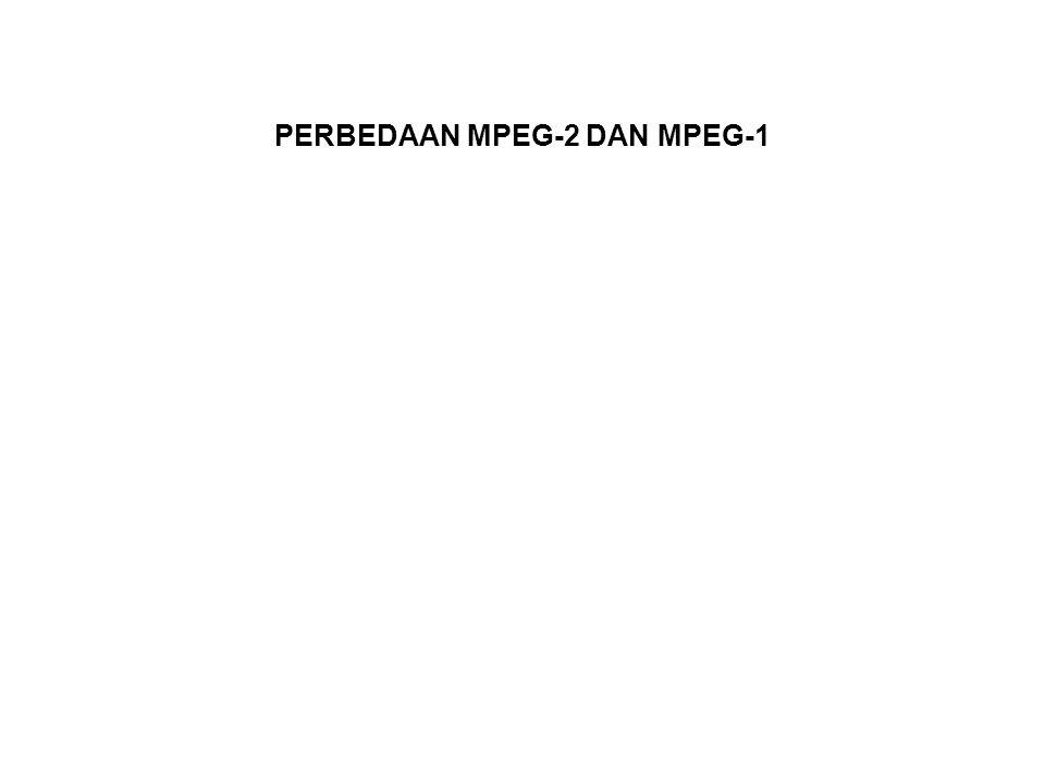 PERBEDAAN MPEG-2 DAN MPEG-1