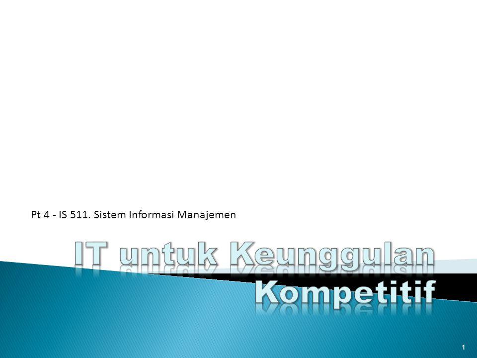 1 Pt 4 - IS 511. Sistem Informasi Manajemen
