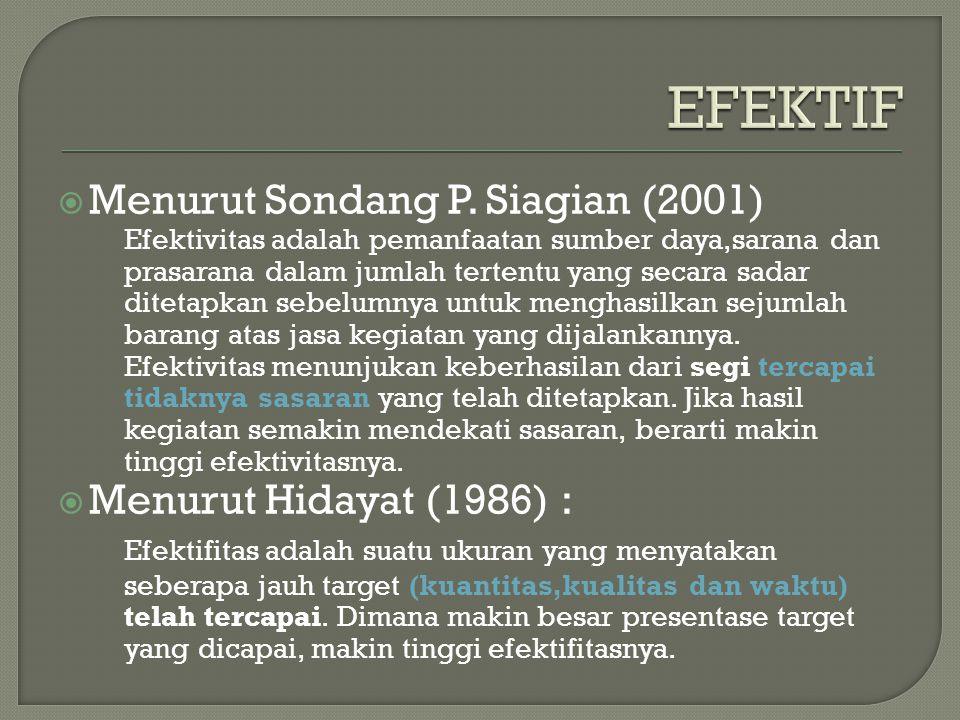  Menurut Sondang P.