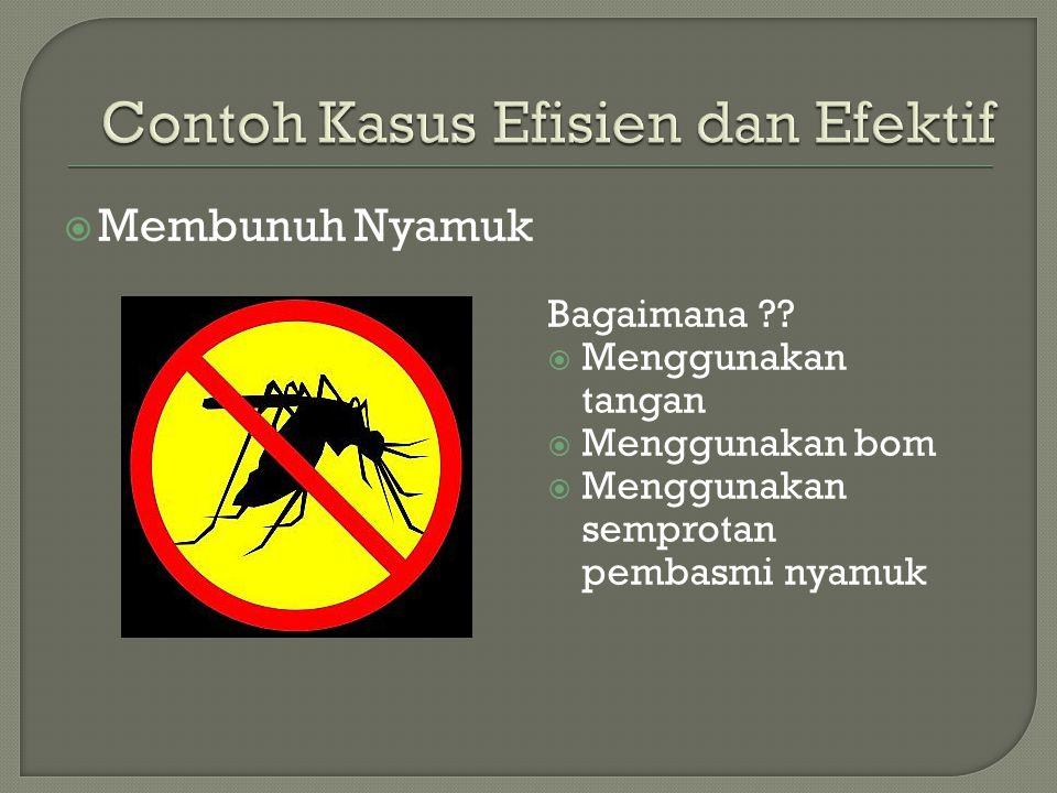  Membunuh Nyamuk Bagaimana .