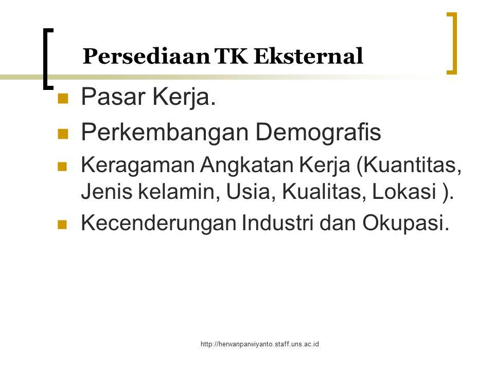 http://herwanparwiyanto.staff.uns.ac.id Persediaan TK Internal (lanjutan) Implikasi Persediaan TK Internal dan Distribusinya Benchmarking Persediaan TK Internal dan Distribusinya