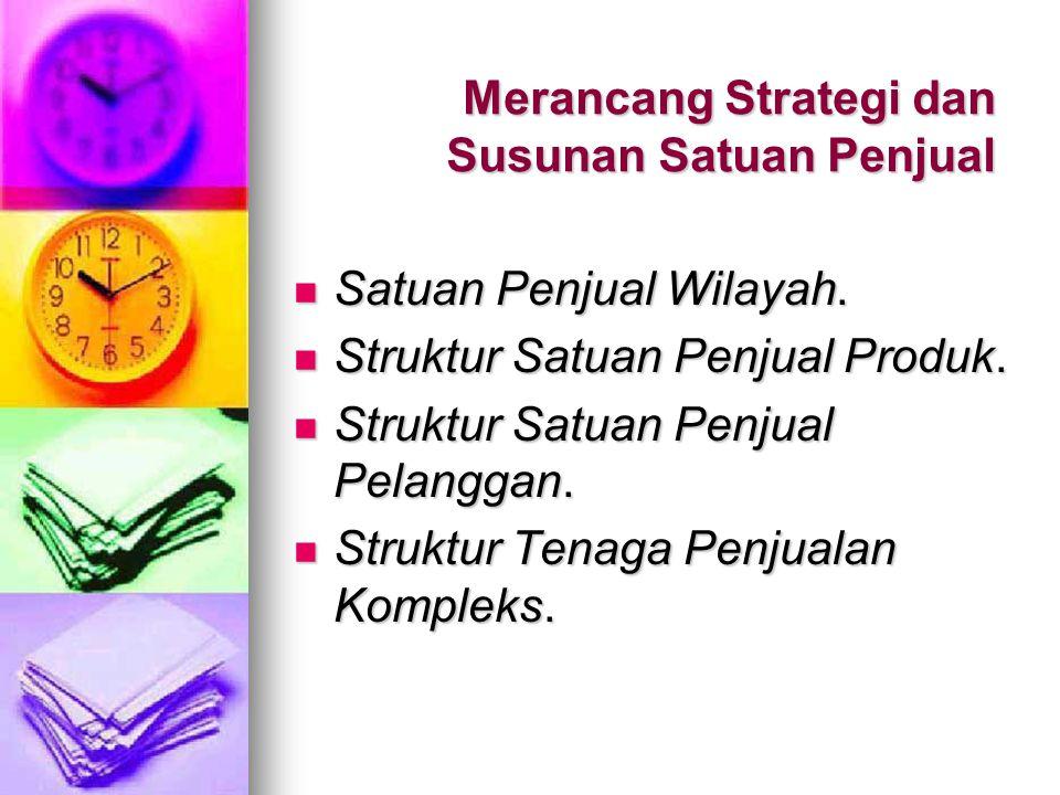 Isu Lain Strategi Satuan Penjual Outsides sales force.