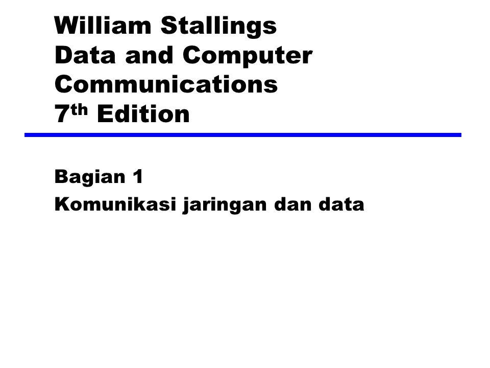 Model Komunikasi Sumber —Menghasilkan data untuk ditransmisikan Pemancar —Mengubah data menjadi sinyal yg dapat dipancarkan Sistem Transmisi —Membawa data Penerima —Mengubah sinyal yg diterima menjadi data Tujuan —Pengambilan data