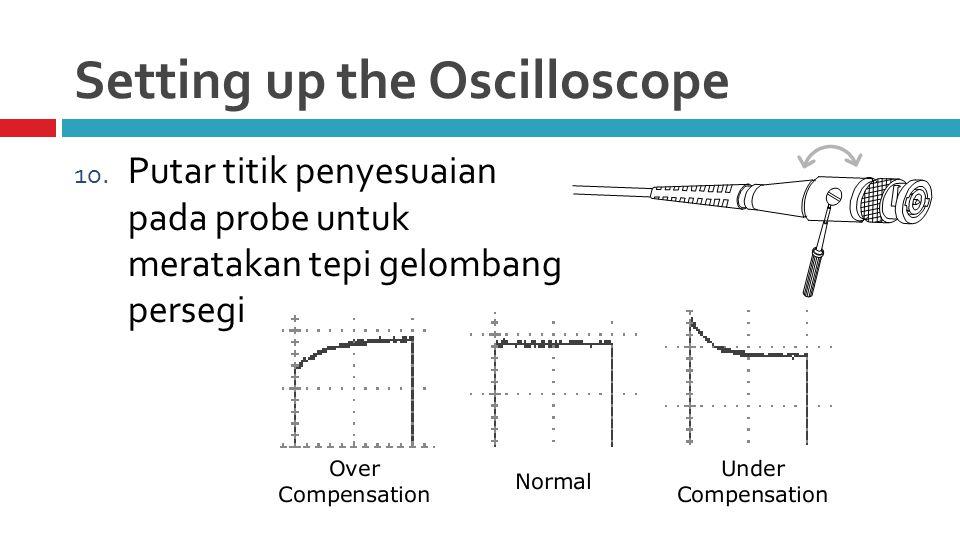 Setting up the Oscilloscope 10.