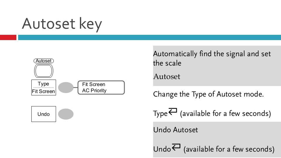 Autoset key