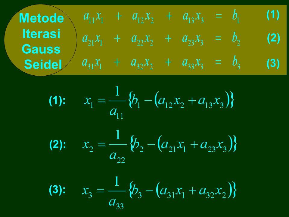 2 3 1 Jadi Solusi persamaan ini adalah: x 2 = x 3 = x 1 = 0 1 0 0 1 00 1 0 2 3 1