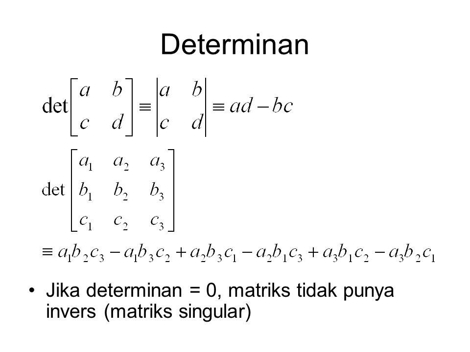 Eliminasi Gauss Salah satu teknik yang populer untuk menyelesaikan sistem persamaan linear dalam bentuk: Terdiri dari dua step 1.