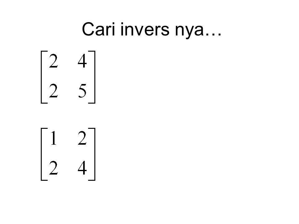 Sistem Persamaan Linear Simultaneous Linear Equations
