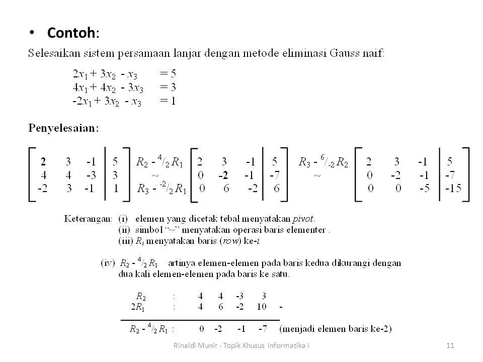 Contoh: Rinaldi Munir - Topik Khusus Informatika I11
