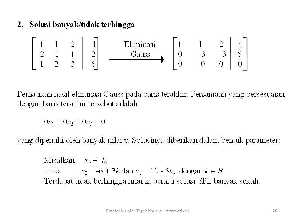 Rinaldi Munir - Topik Khusus Informatika I26