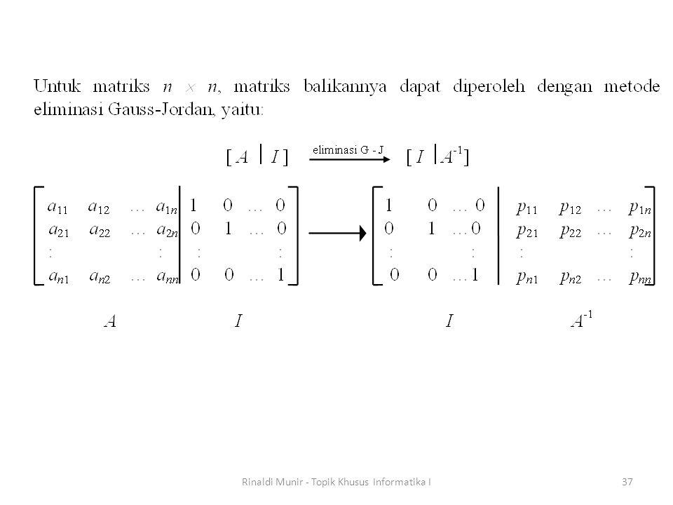 Rinaldi Munir - Topik Khusus Informatika I37