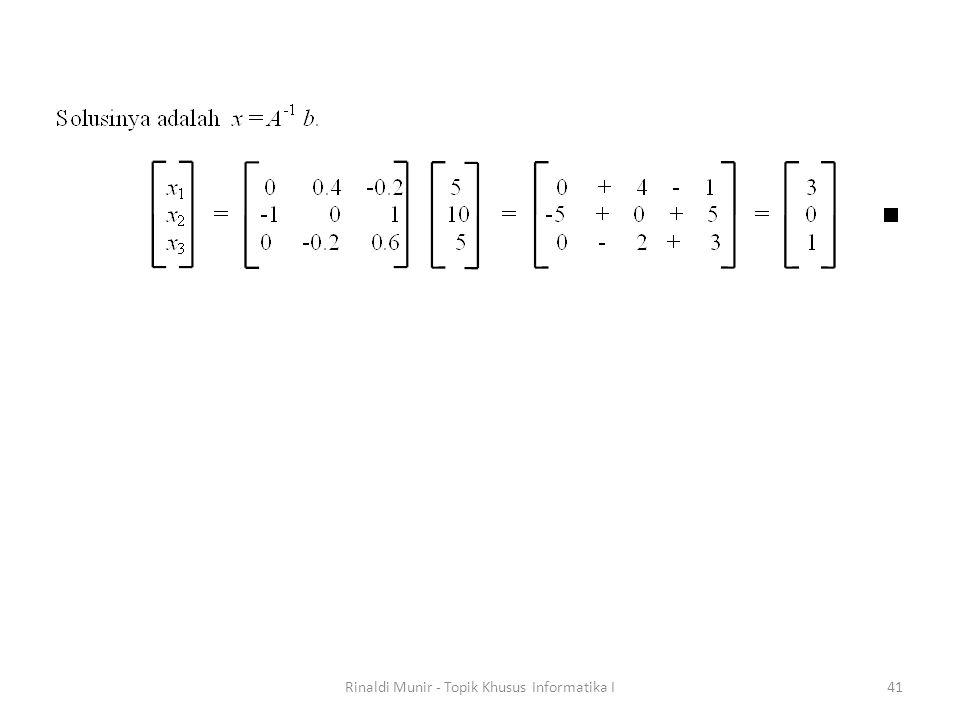 Rinaldi Munir - Topik Khusus Informatika I41