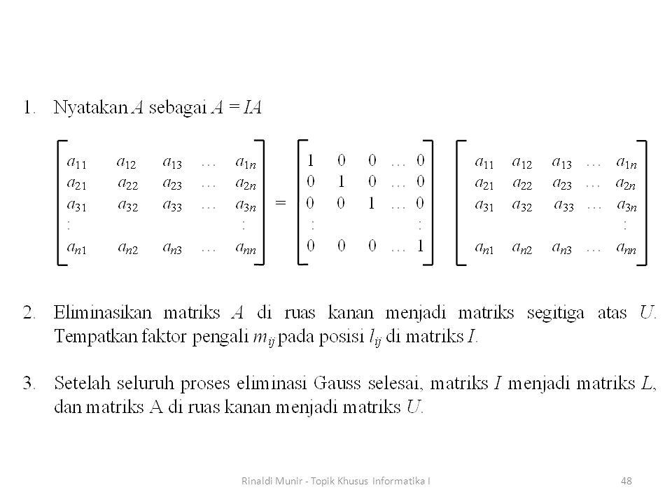 Rinaldi Munir - Topik Khusus Informatika I48