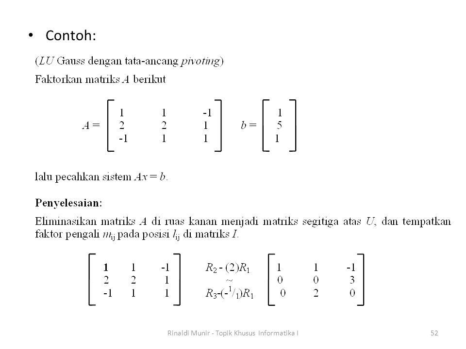 Contoh: Rinaldi Munir - Topik Khusus Informatika I52