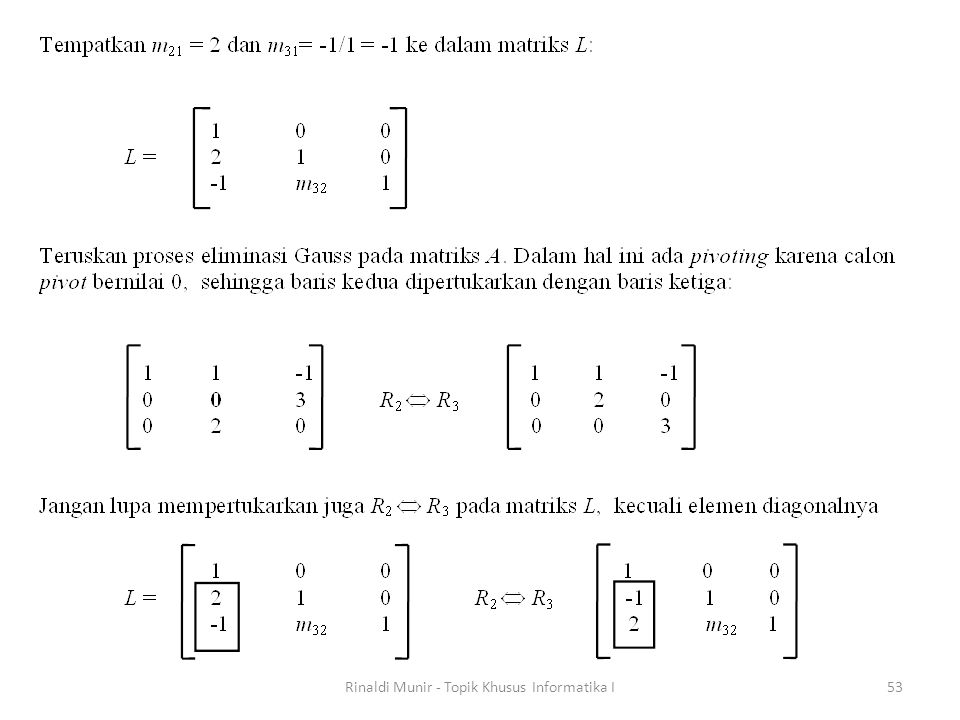 Rinaldi Munir - Topik Khusus Informatika I53
