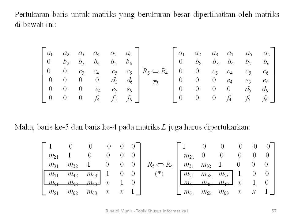 Rinaldi Munir - Topik Khusus Informatika I57