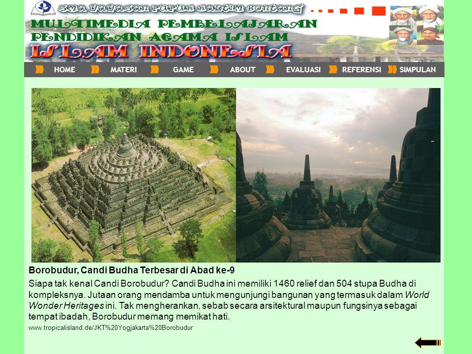 Borobudur, Candi Budha Terbesar di Abad ke-9 Siapa tak kenal Candi Borobudur? Candi Budha ini memiliki 1460 relief dan 504 stupa Budha di kompleksnya.