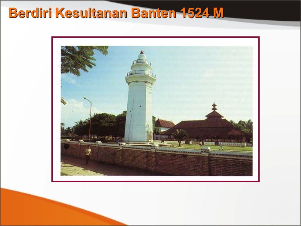 Berdiri Kesultanan Banten 1524 M