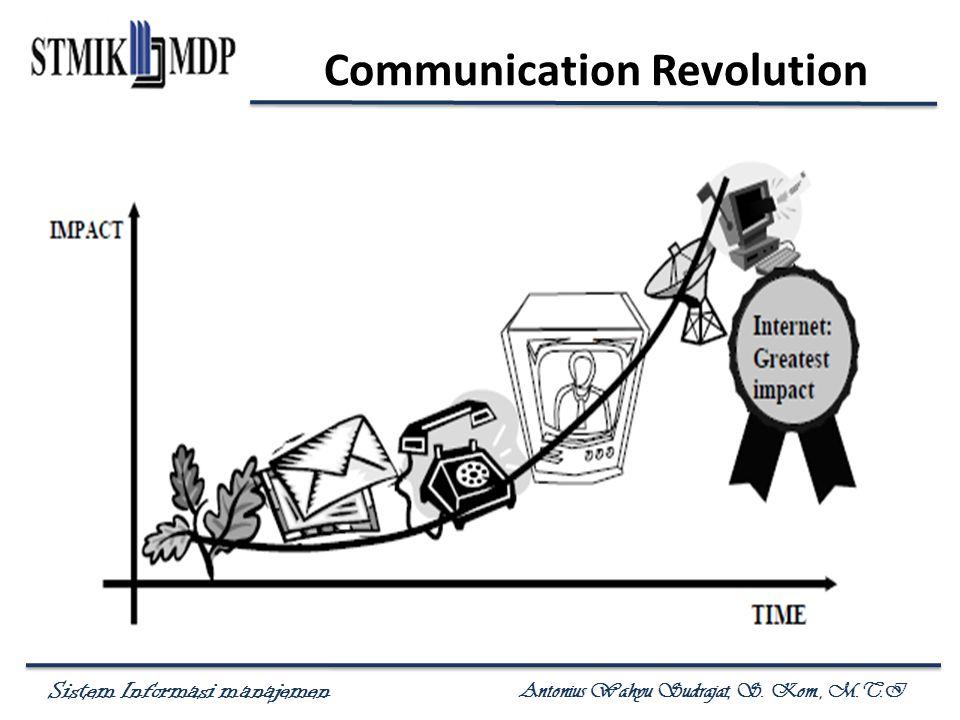 Sistem Informasi manajemen Antonius Wahyu Sudrajat, S. Kom., M.T.I Communication Revolution