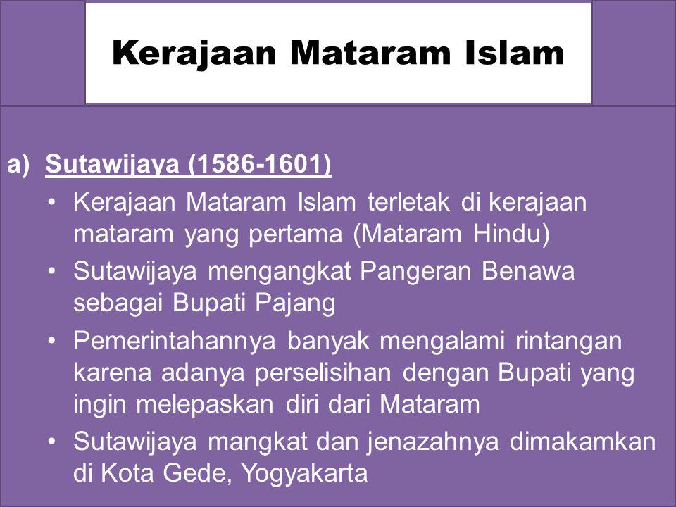 Kerajaan Pajang  Hadiwijaya (menantu Sultan Trenggana) memindahkan pusat kerajaan Demak ke Pajang.  Setelah sultan Hadiwijaya mangkat pada tahun 158