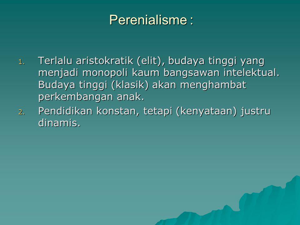 Perenialisme : 1.