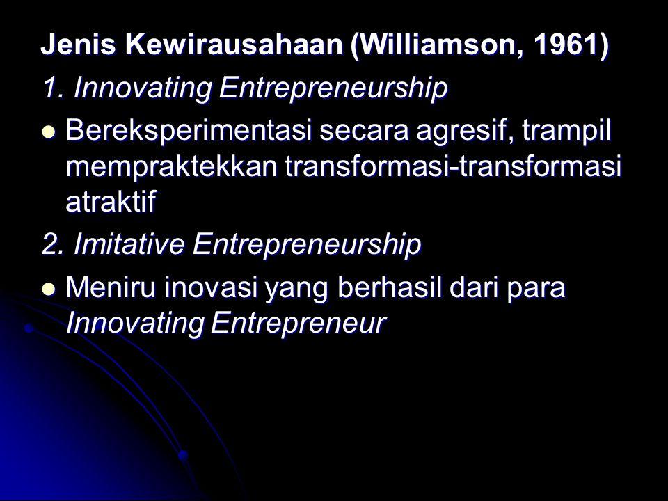 Jenis Kewirausahaan (Williamson, 1961) 1.