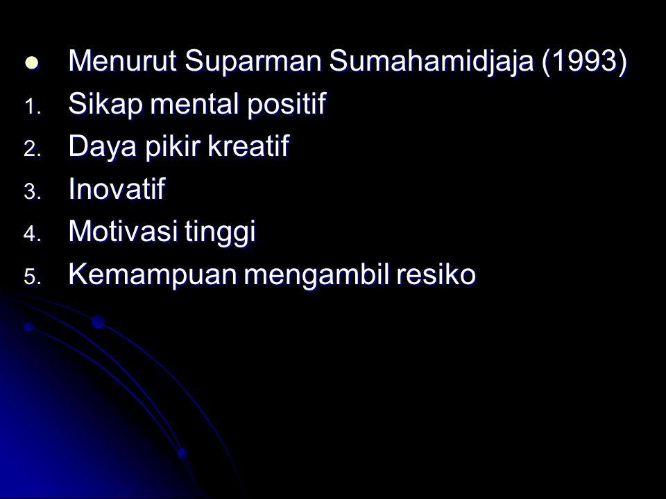 Menurut Suparman Sumahamidjaja (1993) Menurut Suparman Sumahamidjaja (1993) 1.