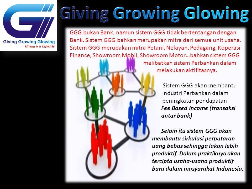 GGG bukan Bank, namun sistem GGG tidak bertentangan dengan Bank. Sistem GGG bahkan merupakan mitra dari semua unit usaha. Sistem GGG merupakan mitra P