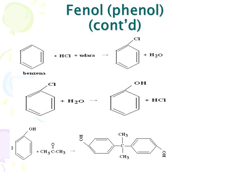 Fenol (phenol) (cont'd)