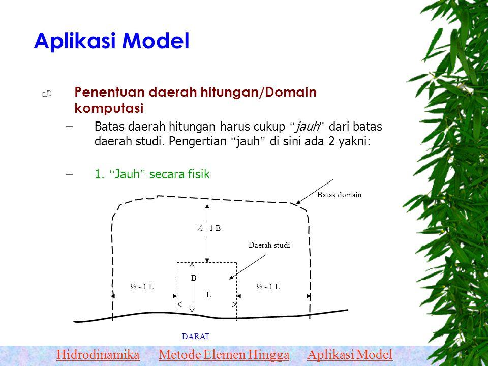 HidrodinamikaMetode Elemen HinggaAplikasi Model Titik/Node dan Elemen Titik-titik / NodeElemen-elemen