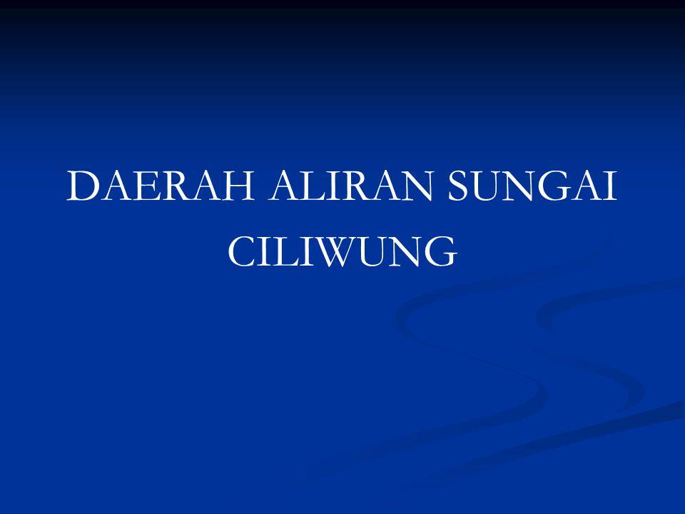 DAERAH ALIRAN SUNGAI CILIWUNG