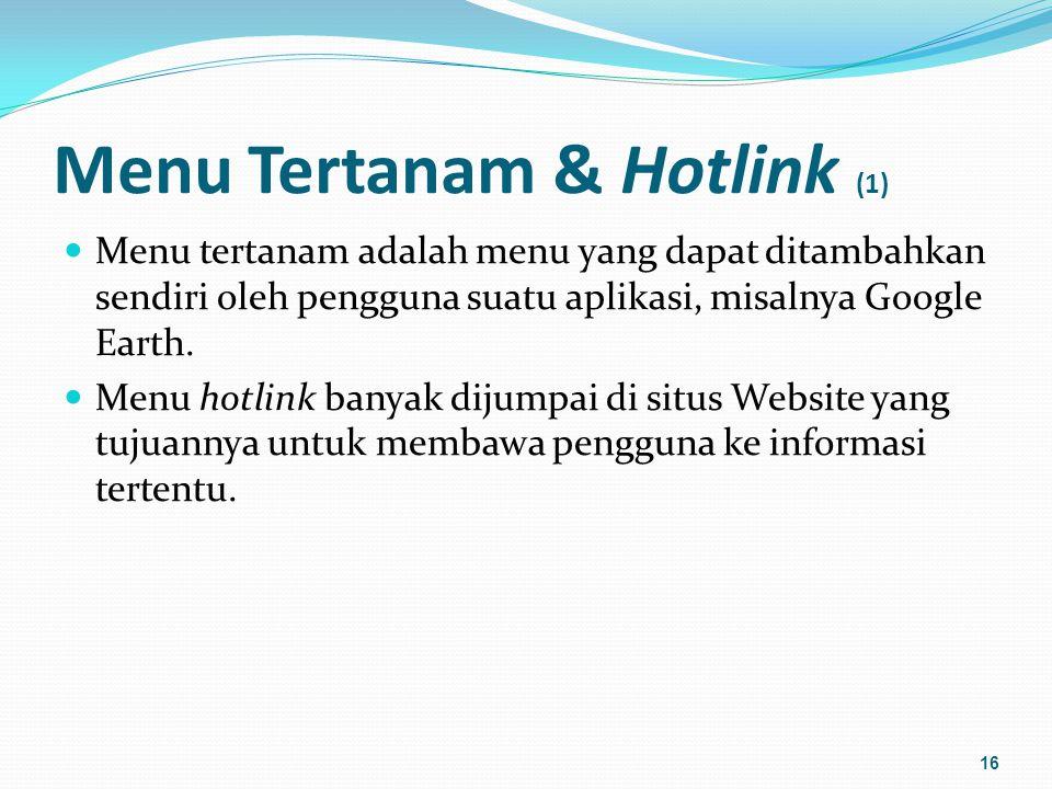 Menu Tertanam & Hotlink (2) Contoh: 17
